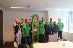 Groene Kring staande klok Mestbank